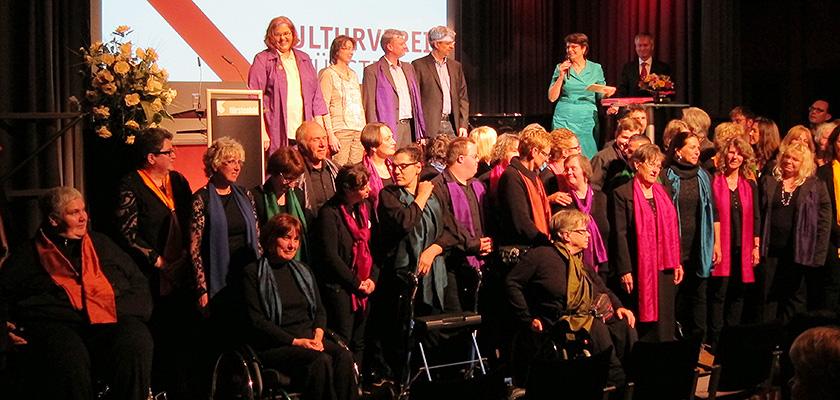 Verleihung Kulturförderpreis 2015 an den Inklusionschor