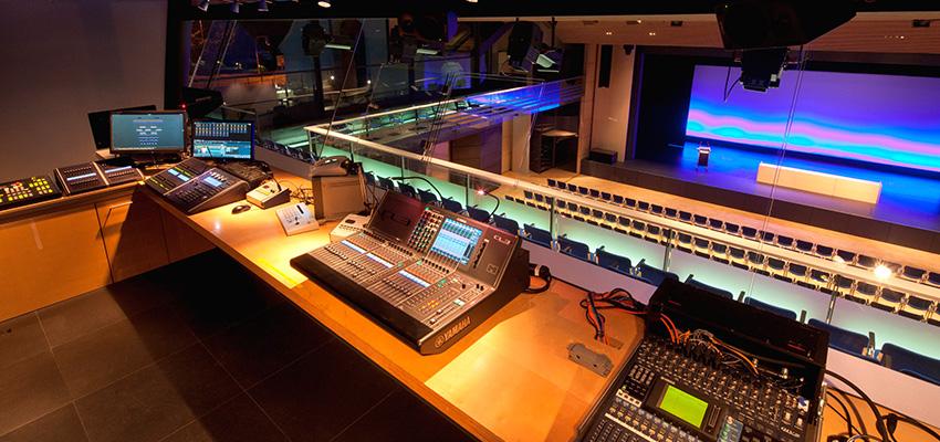 Blick auf die Technik Veranstaltungsforum Fürstenfeld