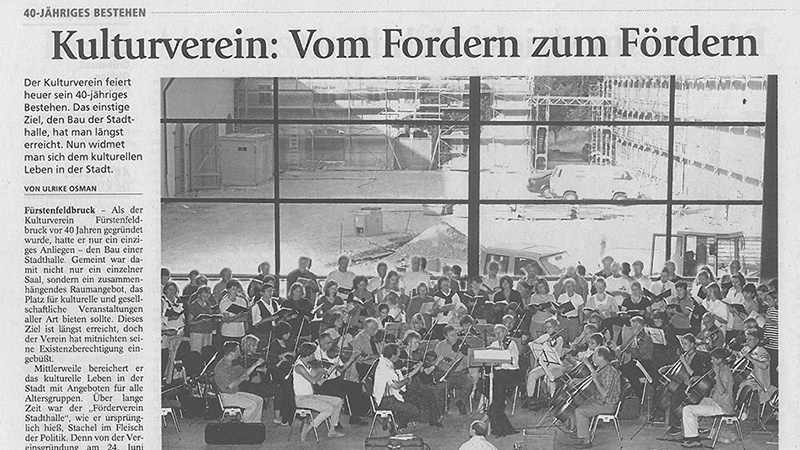 Pressebericht FFB Tagblatt 40 Jahre Kulturverein Fürstenfeld