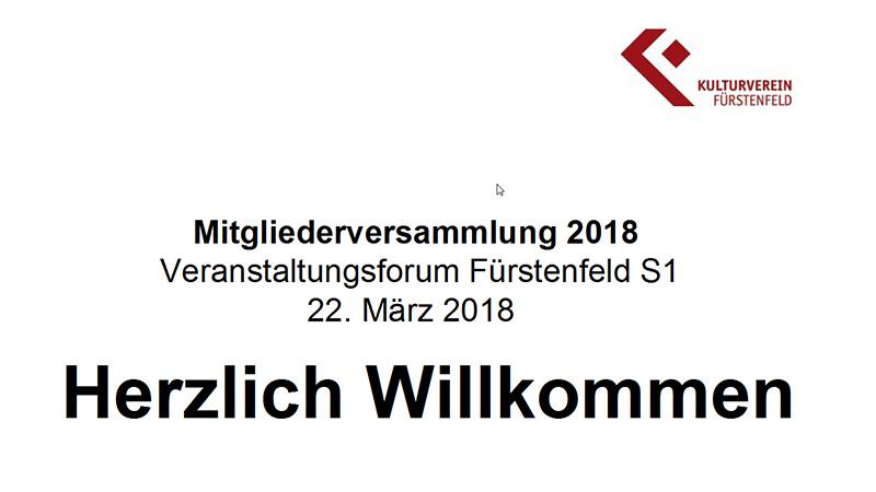 Mitgliederversammlung 2018 Kultuverein Fürstenfeld