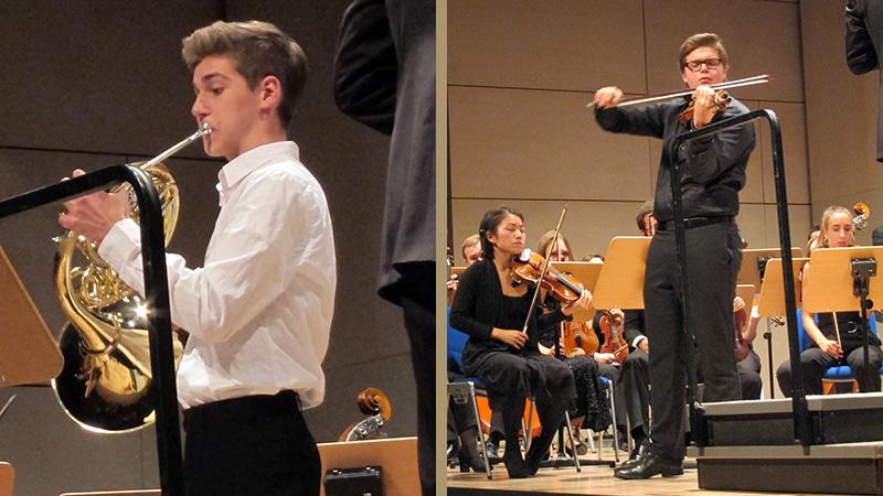 Finn Bohn, Horn und Tassilo Probst, Violine